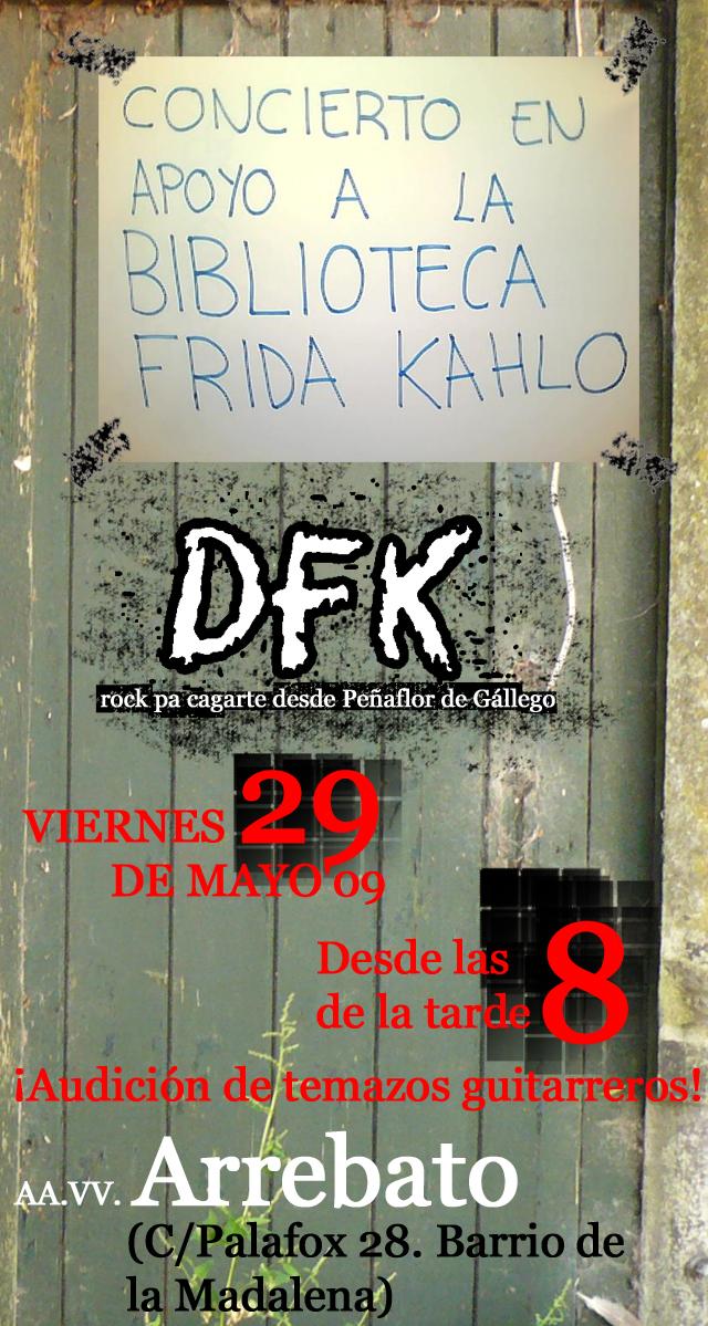 Concierto de DFK en apoyo a la Biblioteca Frida Kahlo