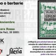 Presentación de «Salubrismo o Barbarie» en Zaragoza